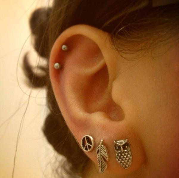 Dream Catcher Helix Earring 40 Cute Fun Ear Piercing Ideas FMag 30