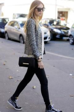 glitter sneakers skinny jeans