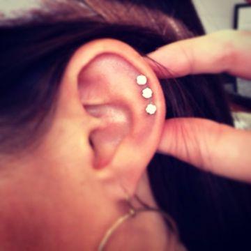 triple helix piercing studs