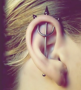 variation industrial piercing