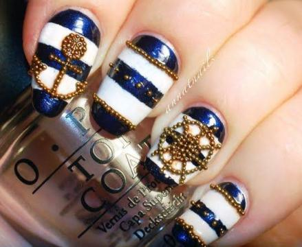 3d nautical nail art