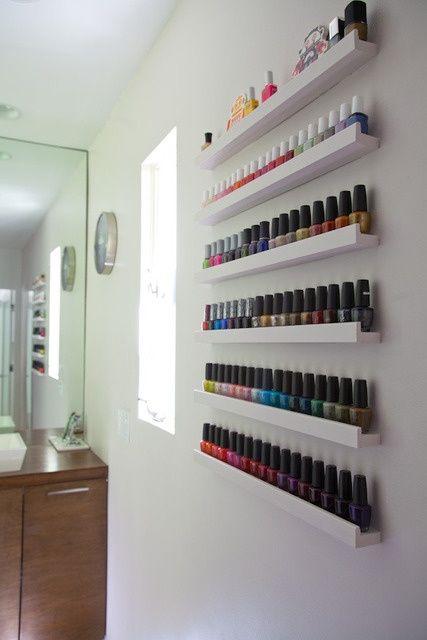 The best nail polish storage ideas to try right now fmag a few narrow shelves nail polish storage ideas solutioingenieria Choice Image
