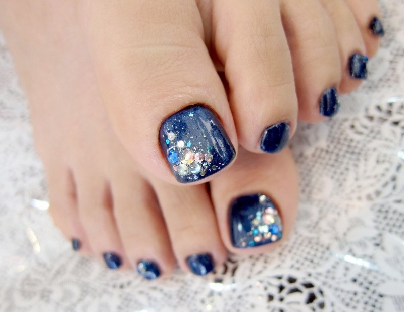 crystal nail art design. crystal toe nail art - 50+ Incredible Toe Nail Designs Ideas FMag.com