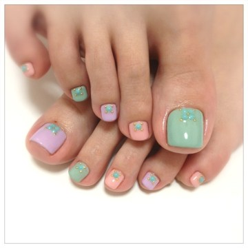 50 incredible toe nail designs ideas fmag cute pastel toe nail design prinsesfo Choice Image
