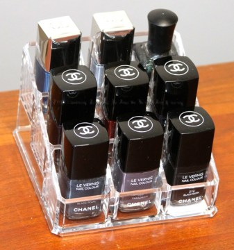 nail polish storage acrylic box