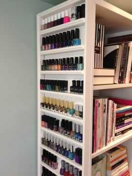 nail polish storage custom library shelf