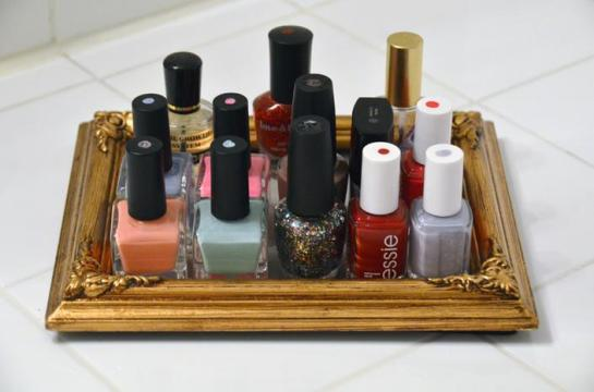 nail polish storage picture frame