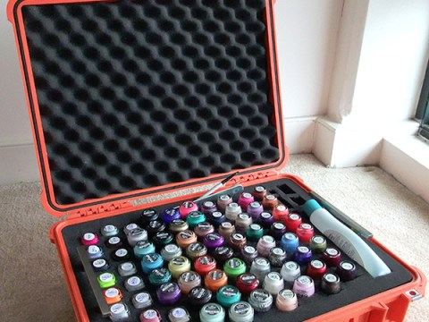 nail polish storage travel case