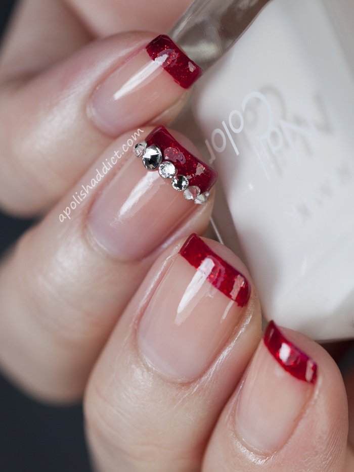 red glitter tips - 40 Red Nail Designs You'll Love, Get Creative! - FMag.com