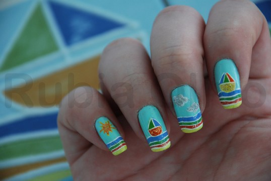 unique nail designs abstract beach