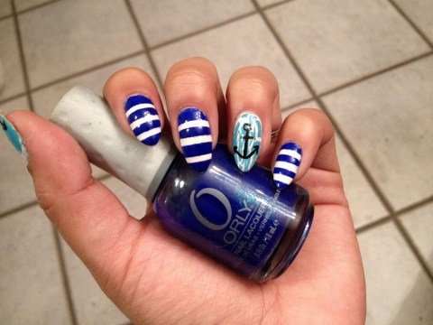 unique nail designs nautical nails