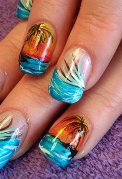 unique nail designs trees