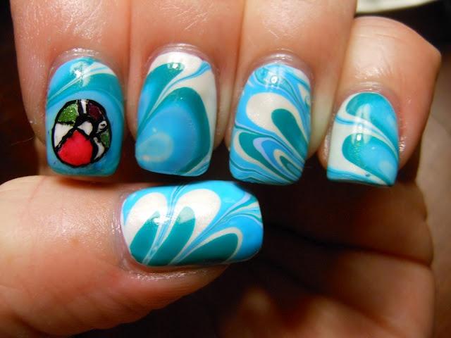 Waves Nail Art Fmag