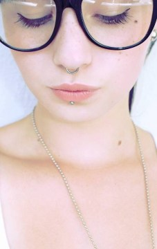 cute septum ring nerd glasses
