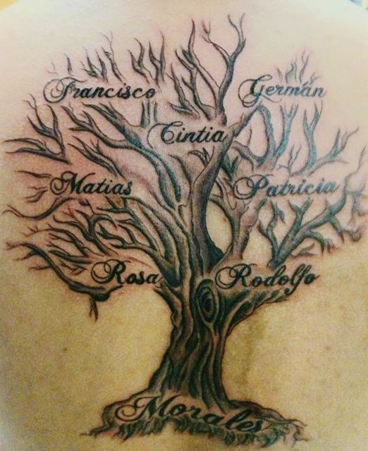 family tree tattoos let your family know you love them. Black Bedroom Furniture Sets. Home Design Ideas