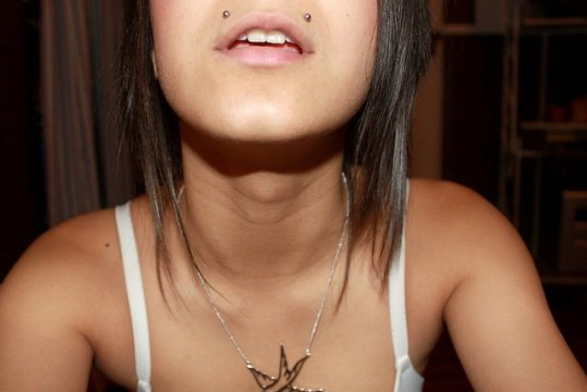 Double monroe piercing
