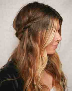 Half Up Braided Crown