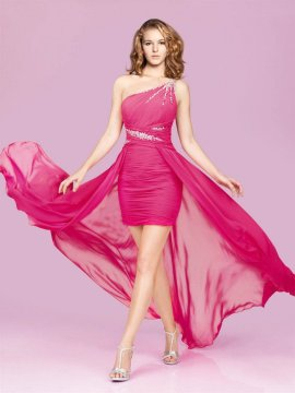 Hot Fuchsia Cocktail Dress