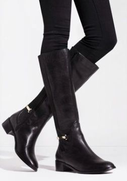 Kneehighboots black