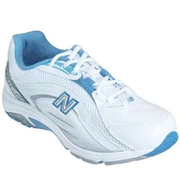 White with Blue Walking Shoe