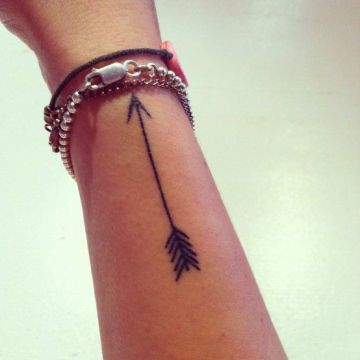 Plain black arrow tattoo