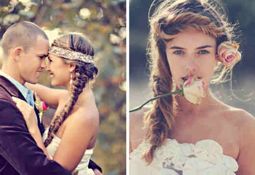 boho wedding hairstyle inspiration