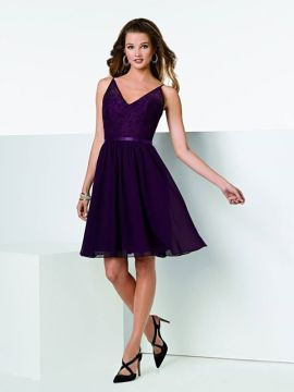 swing skirt in chiffon with lace bodice