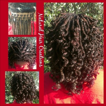 kinky twist natural hair