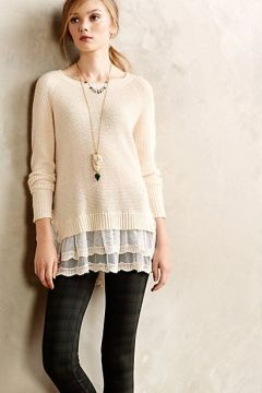 Lacy tunic with leggings