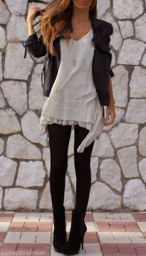 Layered tunic with leggings