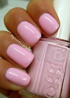 Pink wedding nails