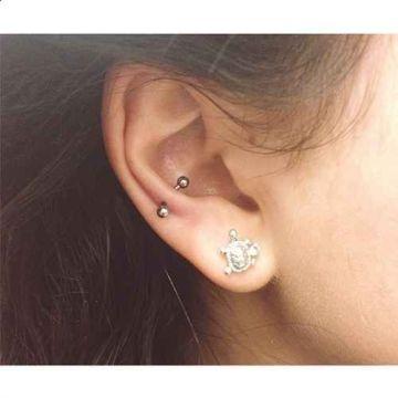 Silver snug piercing