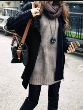 Sweater with leggings