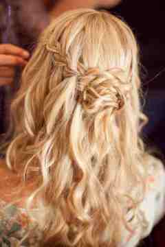 waterfall braid for boho hairstyle
