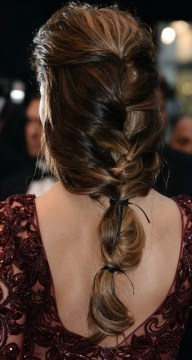 Back Segmented Ponytail Hairstyle for Medium-Length Hair