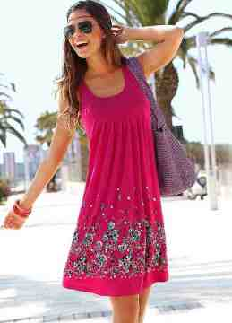 Berry Petal Print Sun/Cruise Dress