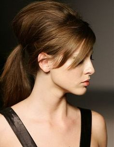 Bouffant Ponytail with Bangs