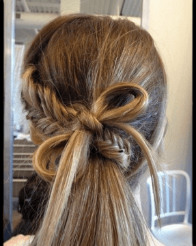 Braided-Knot Ponytail for Long Hair