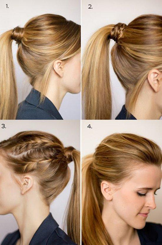 chic ponytail hairstyles medium-length