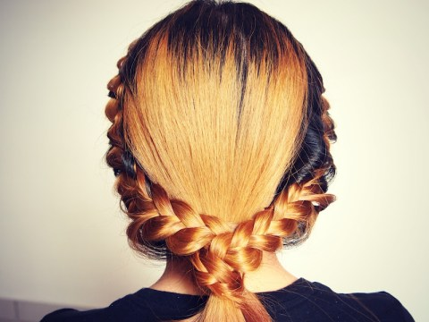 Double Side French Braid Ponytail