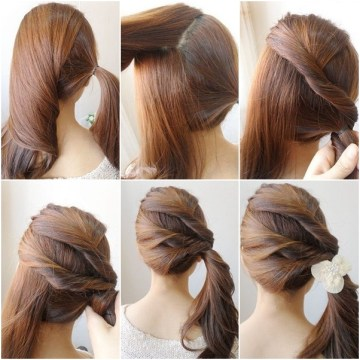 Easy Twist Side Ponytail Hairstyle