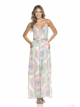 FRONT CROSSED MAXI DRESS