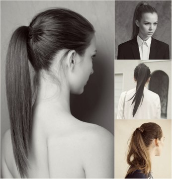 Fashion Sleek Ponytail Hairstyle
