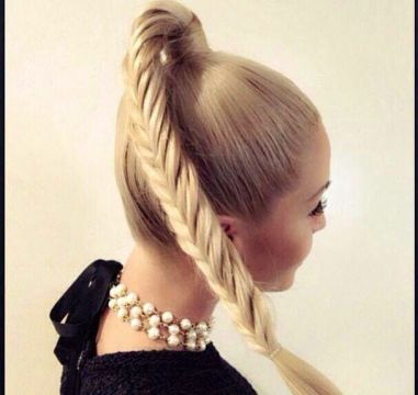 French Braid High Ponytail for Long Hair