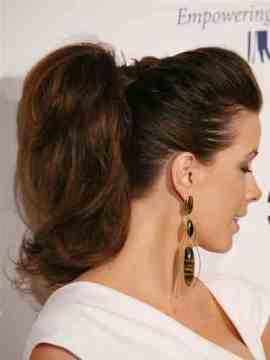 High Bouffant Ponytail Hairstyle