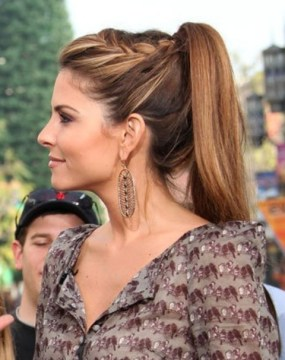 Maria Menounos Hairstyles High Ponytail with Braid