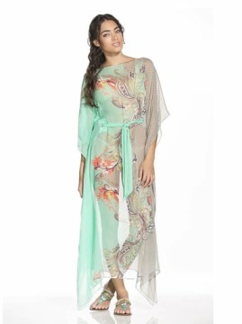 Misty Pearls Silk Kaftan
