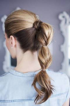 Ponytail Topsy Tail Hairstyle