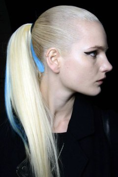Streaked Sleek Ponytail Hairstyle