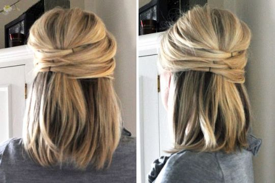 Criss-cross hairstyle